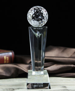 Crystal Golf Award Trophy Souvenir Crystal Golf Trophy pictures & photos