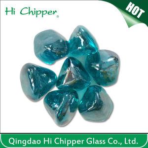 Blue Colored Diamond Shape Fire Pit Glass Gem Stone pictures & photos