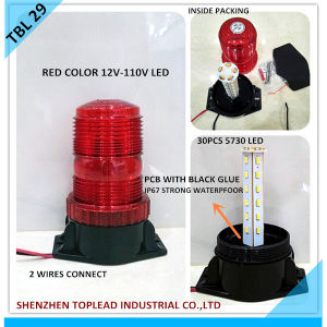 30PCS 5730 LED 12V-110V Strobe Warning Light, Red Flashing Warning Light for Emergency Using, LED Warning Light Beacon