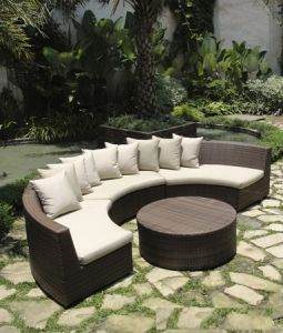 2016 Hot Outdoor Wicker Sofa pictures & photos