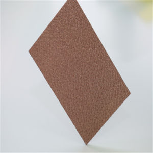 Bronze Diamond Polycarbonate Embossed PC Sheet pictures & photos