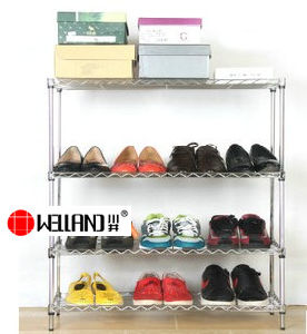 Wholessale Adjustable DIY Metal Vintage Shoe Rack Accessories, NSF Approval pictures & photos