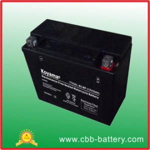 High Capacity Motorcycle Batteries Ytx20L-BS pictures & photos