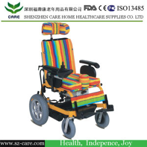 Suitable Children 7-15 Years Top Quality Reclining Lightweight Aluminum Manual Children Wheelchair pictures & photos