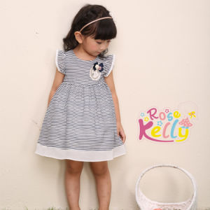Casual Strip Cotton Baby Dress, Baby Frock Design Baby Clothes