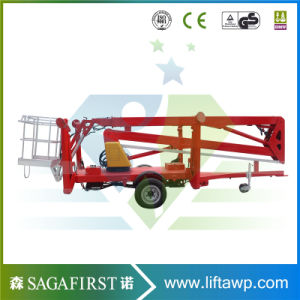12m 10m Light Duty Rotating Aerial Boom Lift Man Lift pictures & photos