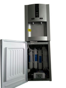 Silver Color Compressor Cooling RO Purified Water Cooler pictures & photos