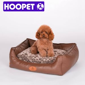PU Dog Bed Square Dog Bed Luxury Pet Dog Beds Leather pictures & photos