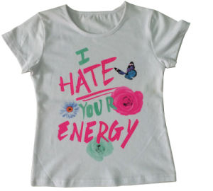 High Quality Fashion Kids Girl T-Shirt Wholesale (SGT-016) 4-6-8-10-12 Years pictures & photos