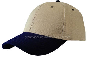 Blank Cotton Canvas Baseball Cap with Metal Eyelets (608) pictures & photos