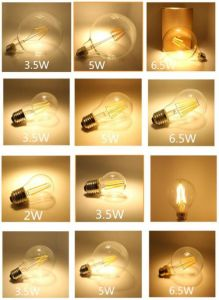 2016 Filament LED Bulb Lamp G45/C35/A60/St64/St58 LED Light Bulb E27/E26/E14/B12/B15/B22 pictures & photos