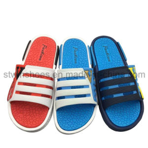 Mens Magic Tape Flip Flop Shower Sports Sandals Flat Gents Shoes