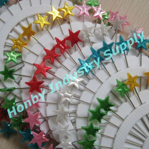 Colorful 55mm Star Shaped Head Christmas Decorative Pins pictures & photos