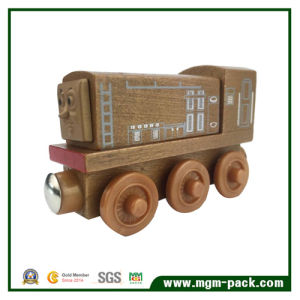 OEM Eco-Friendly Durable Brown Wooden Train for Kids pictures & photos