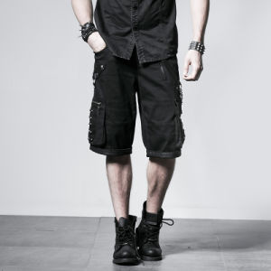 Top Brand Summer Short Black Pants Mens Trousers (K-192) pictures & photos