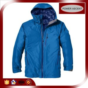 2015 Mens Shiny Blue Nylon Waterproof Winter Down Jacket pictures & photos