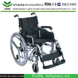 Health Care Product Folding Power Electric Wheelchair for Elderly and Disabled pictures & photos
