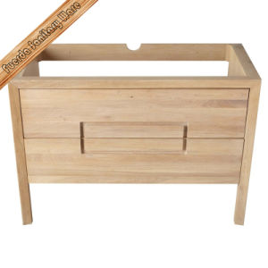 Wood Color Hot Sell Free Standing Bathroom Furniture Vanity pictures & photos