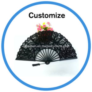 Custom Paper Lace Silk Hand Fan pictures & photos
