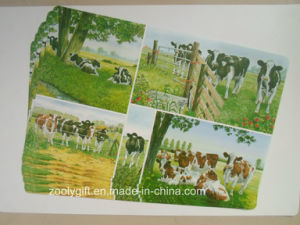 Wholesale Cow Printed PP Table Place Mat pictures & photos