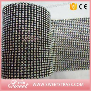 Hot Sell Sew on Rhinestone Crystal Ab Mesh with Black Rim Cup pictures & photos