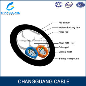 China Manufacturer Stranded Loose Tube Non-Metallic Strength Member Non-Armored Optical Fiber Cable GYFTY Fiber Optic Cable Price pictures & photos