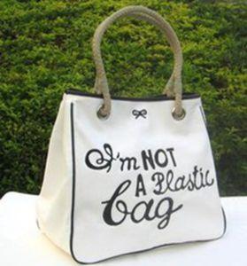 Custom Designer Recycle Cotton Fabric Beach Bag pictures & photos