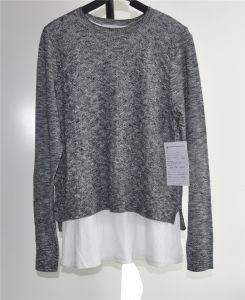 Fashion Cotton Polyester Woven Knit Sweater for Ladies pictures & photos