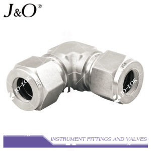 316 Stainless Steel Double Ferrule Union Elbow Pipe Fitting pictures & photos