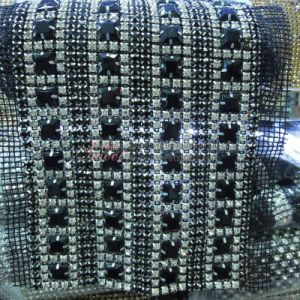 Fancy Crystal Rhinestone Banding of Mesh pictures & photos