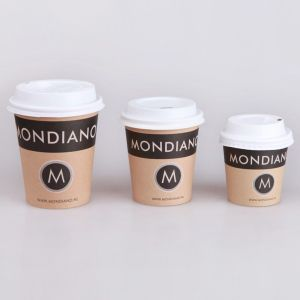 Brown Kraft Paper Cup with Lid pictures & photos