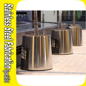Modern Design Large Outdoor Stainless Steel Metal Planter Pot pictures & photos