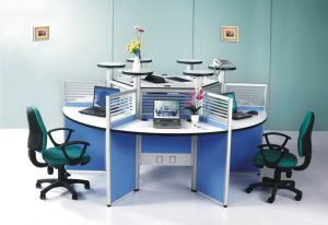 Small Call Center Modern Office Cubicle for 6 Person (HF-YTA003) pictures & photos