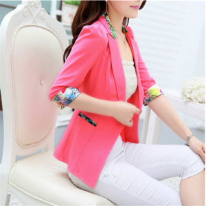 High Quality Candy Color One Button Ladies Blazer Designs (50090-1) pictures & photos
