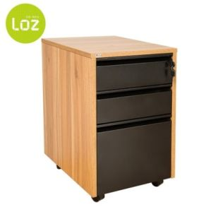 3 Drawers Wooden Mobile Pedestal pictures & photos