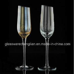 Elegant Design Champagne Glass with Slant Top (B-CP020) pictures & photos