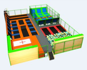 Trampoline Park for Kids Zone or Play Center New Kids Indoor Trampoline pictures & photos
