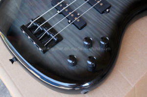 Hanhai Music / 4-String Black Electric Bass Guitar with 24 Frets pictures & photos