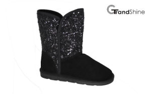 Women′s New Arrival Girls Snow Boots with Glitter Shaft pictures & photos