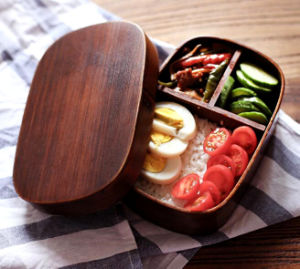 Safe Wooden Sushi Lunch Box pictures & photos