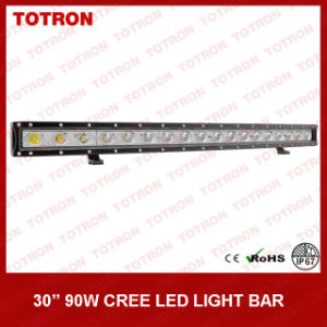 29.5 Inch 90W Single Row Curved LED off Road Light Bar for 4X4 with CE, RoHS, IP67 Certificated (TLB1090X)