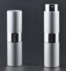 Round Twist up Atomizer Aluminum Sprayer with Glass Bottle pictures & photos