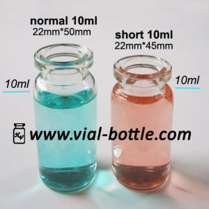 8ml Clear Glass Injection Vial Bottles, Short 10ml Vials pictures & photos