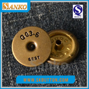 High Quality Brass Snap Button with Customized Logo