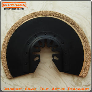 Oscillating Power Tool Accessory Flush Carbide Grit Semicircle Blade pictures & photos