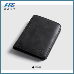 Customized PU Man Leather Purse with Big Promotion pictures & photos