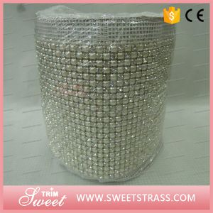 Pearl and Rhinestone Mesh Embellishment Popular Style for Event pictures & photos