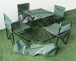 4persons Folding Camping Chair with Desk Sets pictures & photos