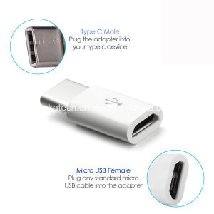 Female Micro USB to USB3.1 Type C Male Adapter pictures & photos