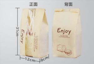 China Manufacturers Food Grade Flat Bottom Kraft Paper Bakery Bag pictures & photos